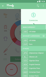 screenshot of Monefy - Money Manager version 1.7.8