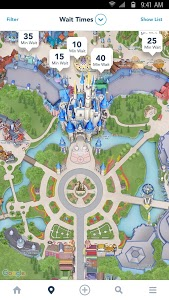 screenshot of My Disney Experience - Walt Disney World version 5.8
