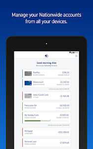 screenshot of Nationwide Banking App version 7.5.2