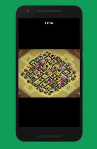screenshot of New COC Town Hall 8 Base version 1.0.4