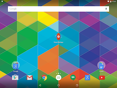 screenshot of Nova Launcher version Varies with device