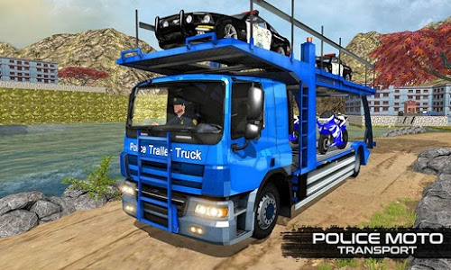 screenshot of OffRoad Police Transport Truck Driving Games version 2.3