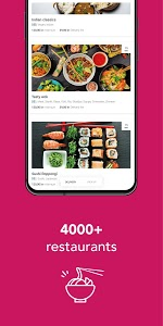 screenshot of foodora Sweden version 5.20.0