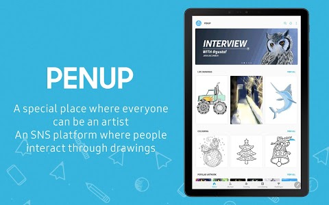 screenshot of PENUP - Share your drawings version 3.1.02.1