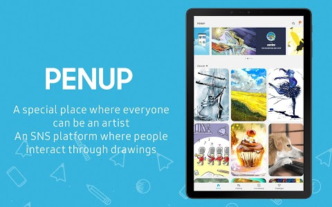 screenshot of PENUP - Share your drawings version 3.2.01.1