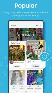 screenshot of PENUP - Share your drawings version 3.4.00.6