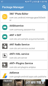 screenshot of Package Manager, App Details version 1.0.1