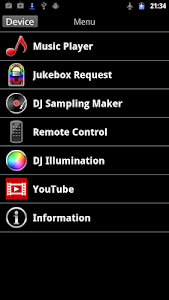 screenshot of Panasonic MAX Juke version 1.9.1