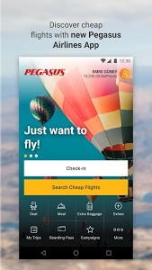 screenshot of Cheap Flight Tickets | Pegasus version 2.1.0