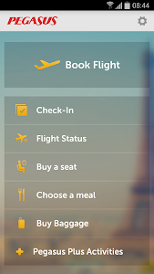 screenshot of Pegasus Airlines Mobile version 1.3.1