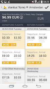 screenshot of Pegasus Airlines - Cheap Fares version 1.4.1