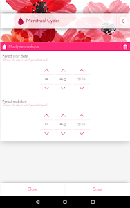 screenshot of Period Calendar, Cycle Tracker version 1.8.2