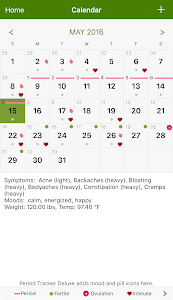 screenshot of Period Tracker version Varies with device