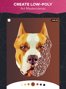 screenshot of PolyColor - Color by Number Poly Art Coloring Game version 1.5