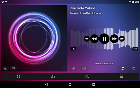screenshot of Poweramp Music Player (Trial) version Varies with device