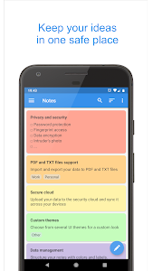 screenshot of Private Notepad - notes, checklist & vault version 5.2.1