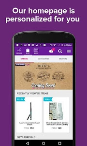 screenshot of Purplle-Online Beauty Shopping version 1.4.5
