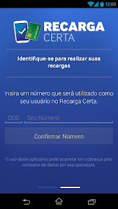 screenshot of Recarga Certa version 1.1.7