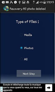 screenshot of Recover deleted Photo,Files, contacts Memory card version 1.77