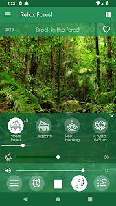 screenshot of Relax Forest ~ Nature Sounds version 5.0.1