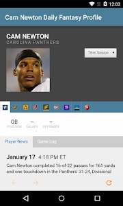 screenshot of RotoGrinders - DFS Strategy, Lineups, and Alerts version 2.2.1