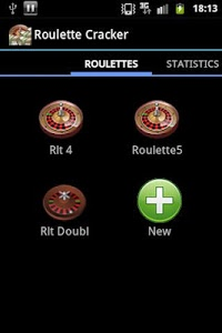 screenshot of Roulette Cracker Free version 1.0