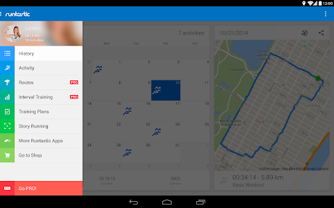 screenshot of Runtastic Running & Fitness version 5.9.3