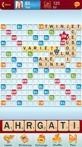 screenshot of SCRABBLE version 5.33.0.831