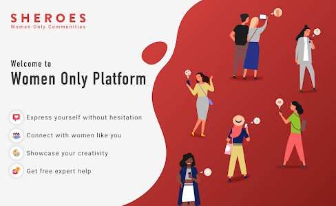 screenshot of SHEROES - The Social Network only for Women version 8.1.1