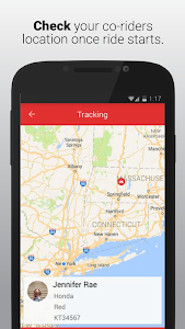 screenshot of sRide :Trusted Instant Carpool version 4.1.1