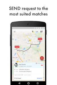 screenshot of sRide Carpool / rideshare version 4.4.5