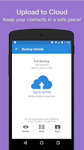 screenshot of Easy Backup - Contacts Export and Restore version Varies with device