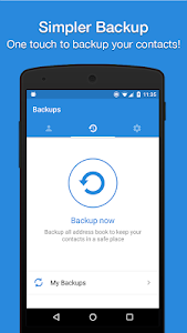 screenshot of Easy Backup - Contacts Transfer and Restore version 10.0.1