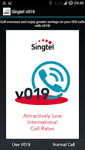 screenshot of Singtel v019 version Varies with device