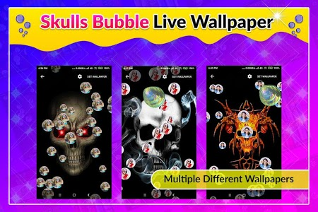 screenshot of Skulls Bubble Live Wallpaper version 1.0