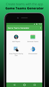 screenshot of Game Teams Generator version 1.0.12