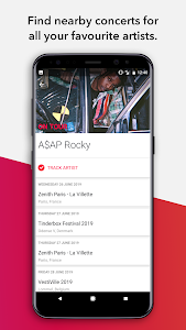 screenshot of Songkick Concerts version Varies with device