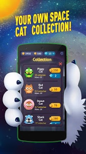 screenshot of Space Cat Evolution: Kitty collecting in galaxy version 2.0.9