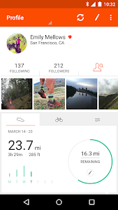 screenshot of Strava Running and Cycling GPS version 5.4.0