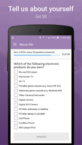 screenshot of SB Answer - Surveys that Pay version 2.1