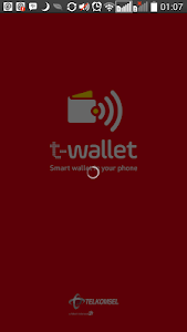 screenshot of T-Wallet version 1.0.4