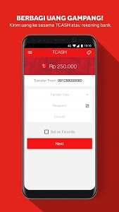 screenshot of TCASH WALLET version 2.0.2