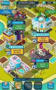 screenshot of Taps to Riches version 2.29