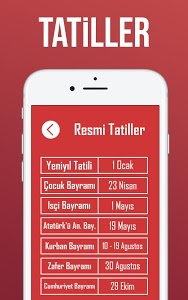 screenshot of Tatil Sayacı - Okul Sayacı version 1.3.2