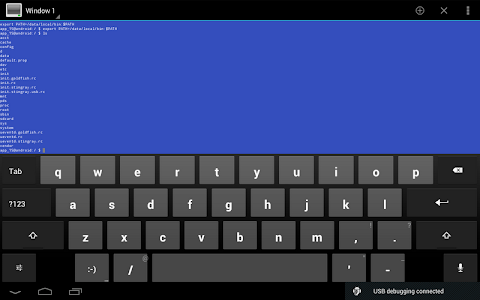 screenshot of Terminal Emulator for Android version 1.0.70