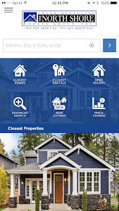 screenshot of The North Shore Realty Group Home Search version 5.800.65