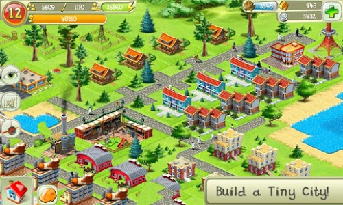 screenshot of Tiny City version 2.3.2