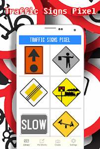 screenshot of Traffic Signs Coloring By Number - Pixel version 4.0