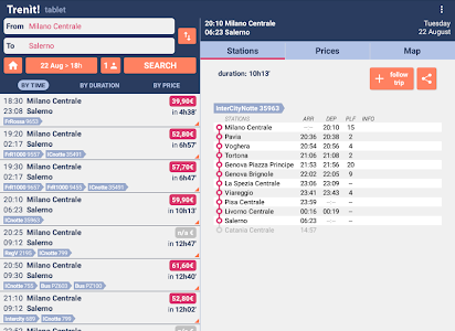 screenshot of Trenit! - find Trains in Italy version 5.0.5