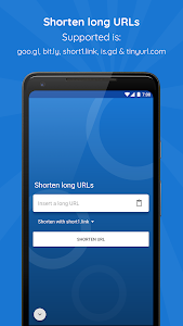 screenshot of URL Shortener version 3.2.0